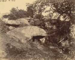 Side view from the west of the Bagh Gumpha or Tiger Cave, Udayagiri